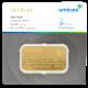 Goudbaar Umicore 50 gram met certificaat
