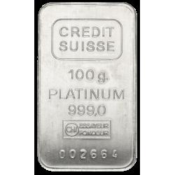 Platinabaar 100 gram (99,90%) diverse producenten