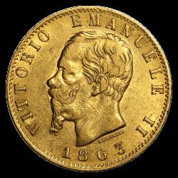 Gouden 20 lire Italië divers jaar