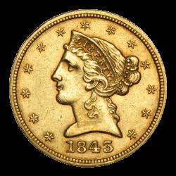 Gouden 5 dollar USA divers jaar