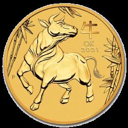 Gouden Lunar 1/10 OZ 2021