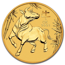 Gouden Lunar 1/2 OZ 2021