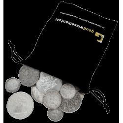 1 KG puur zilveren munten diverse jaren/landen